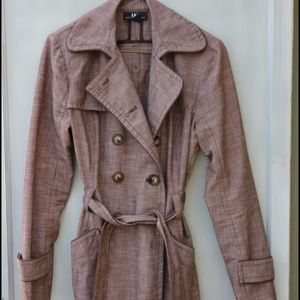 SOLD~I.N. San Francisco trench coat, brown