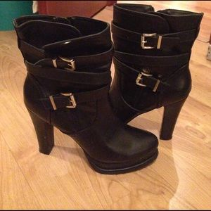 Madden Girl Shoes - Black high heeled boots