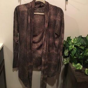 Sweaters - Lightweight print Cardigan