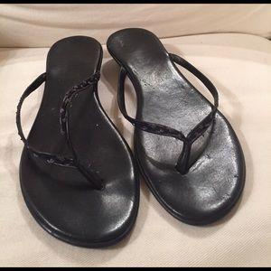 9246a8821b88 Italian Shoemakers Shoes - Black Sequin Sandals Italian Shoe Makers Size 7.5