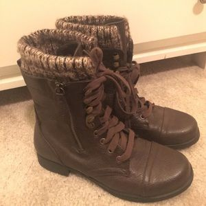 Leather Crown Shoes - Size 6 Combat Boots!