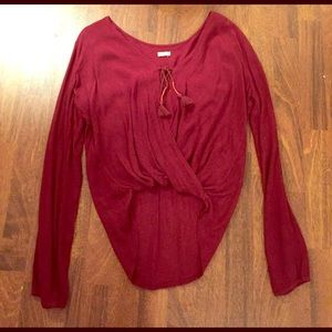 Hollister Co. High-Low Peasant Blouse S