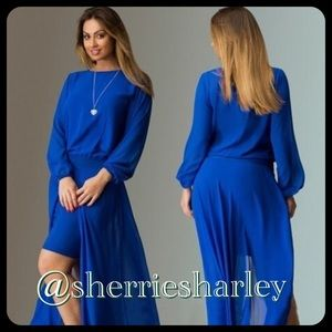 Dresses & Skirts - 🆕Sexy Hi-Slit Chiffon Maxi Plus Size 3X 💙