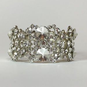 Hollywood Bracelet - Silver with Clear Crystals