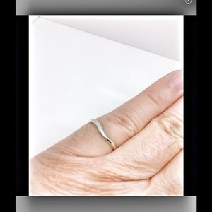 Tiffany & Co. Jewelry - Tiffany & Co. Sterling silver curve stacking ring