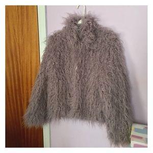 Fabulous Furs Jackets & Blazers - Lavender Faux Fur Jacket