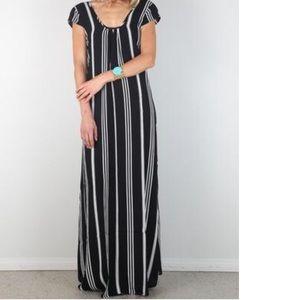 Flynn Skye Dresses & Skirts - Flynn Skye Black & White Pinstripe Maxi
