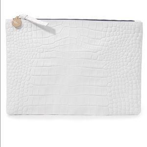 Clare Vivier Handbags - Brand New Clare V Clutch - White Embossed Croco