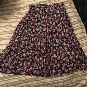 Spring flowery skirt