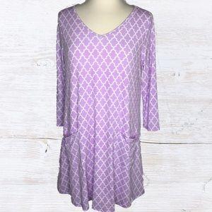 Peach Love California Dresses & Skirts - Moroccan Print Dress