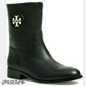 Tory Burch Shoes - Tory Burch Hallie Black Ankle Logo Boot