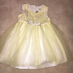 Cherokee Yellow and White Easter Dress