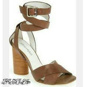 NWT Jeffrey Campbell Atterbury Leather Heel Sandal