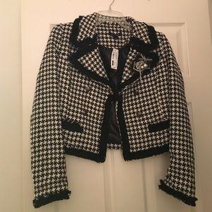 Houndstooth short coat