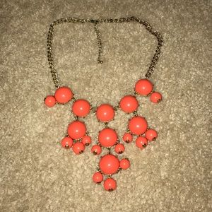 Jewelry - Coral & Gold Bubble Necklace