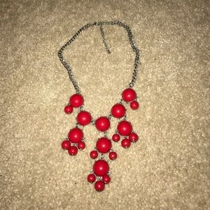 Jewelry - Red & Silver Bubble Necklace