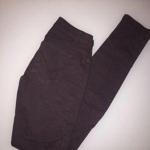 Dark Purple Bebe skinny jeans Size 26