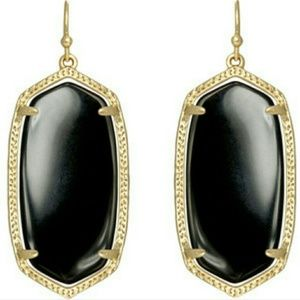 Kendra Scott Jewelry - Kendra Scott Elle Earrings Black Onyx Gold frame