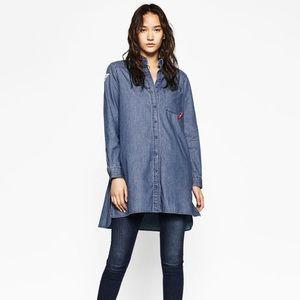NET Zara oversized denim shirt! 🎉