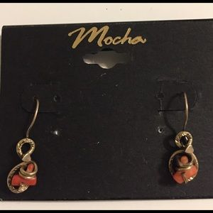 Jewelry - Estate Antique 14kt and Coral earrings