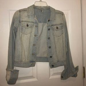bp Jackets & Blazers - Nordstrom BP Short Stonewash Denim Jacket