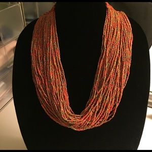 Jewelry - Unique macrame and bead statement necklace