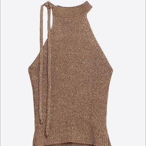 Zara halter knit top