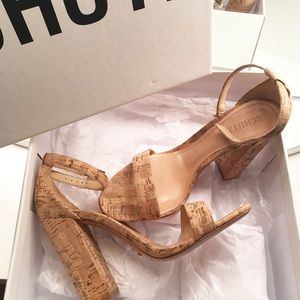SCHUTZ Shoes - • Shcutz Enida Heels (Natural/Cork)