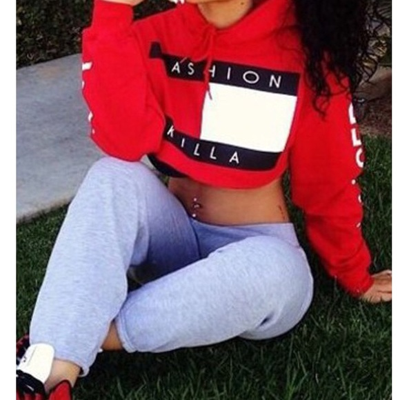 a5543d331457c TRILLFIGER FASHION KILLA Cropped Hoodie