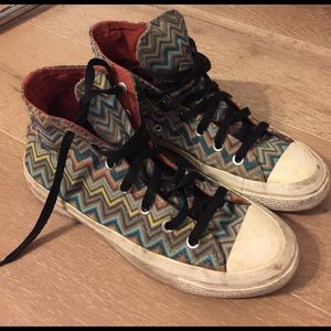 MISSONI CONVERSE HIGH TOP MENS 6 WOMENS 9