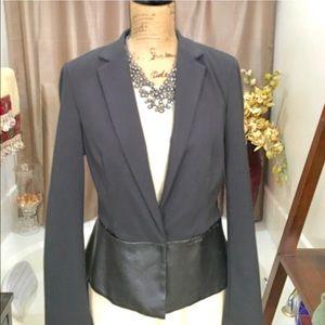 DKNYC Jackets & Blazers - DKNY C Black Blazer with Leather Peplum.