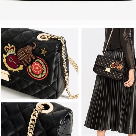 5136941ff94 Zara quilted patches leather cross body bag 2017