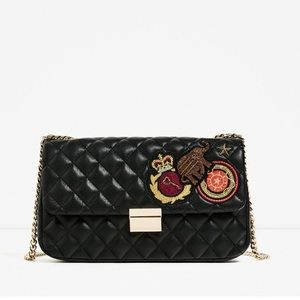 5e9737c029d Zara Bags | Quilted Patches Leather Cross Body Bag 2017 | Poshmark