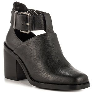Shellys London black heeled booties