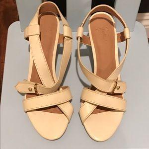 Joie cream color slingback sandals, never worn!