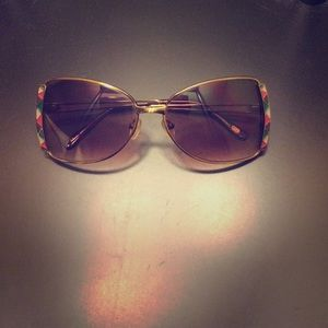 Fossil Accessories - Vintage Fossil Multi-Colored Metal Frame Sunnies