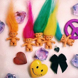 90s Troll Doll Velvet Choker (colors )