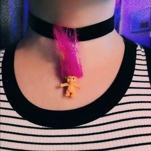 💎NEW💎 90's Nostalgia Troll Doll Velvet Choker