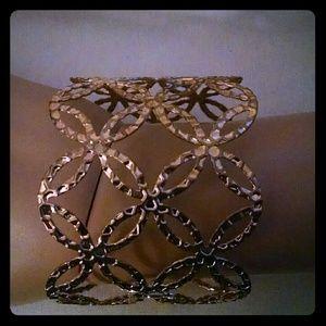 Jewelry - Beautiful gold tone wide cuff fashion bracelet
