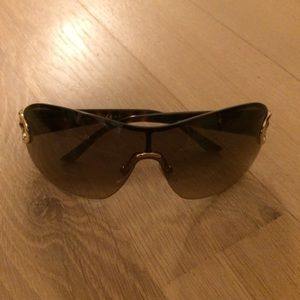 Gucci Gold Havana Horsebit Sunglasses