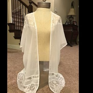 Candie's Other - White lace shirt