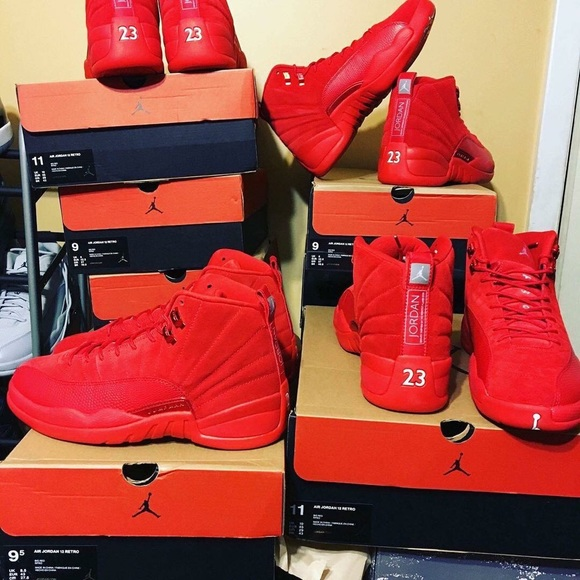 more photos 82dba 4fc2d The New 12's Red Suede