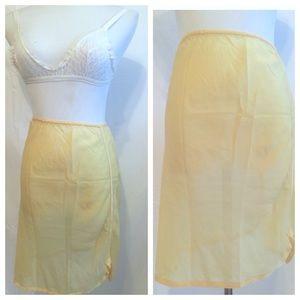 Mint 1960's Silk Blnd Semi Sheer Half Slip