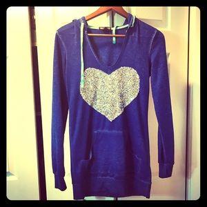 Fabulous tunic sweatshirt with sequin heart ❤️