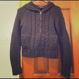 Abercrombie & Fitch navy blue zip sweater hoodie