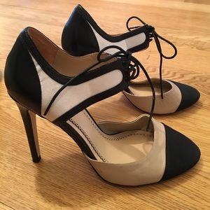 Pour la Victoire Shoes - POUR LA VICTOIRE NUDE & BLACK HEELS SIZE 7.5