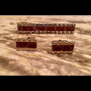 Other - Vintage Cuff Links and Tie Bar