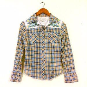 Paul & Joe Tops - Paul & Joe Western Embroidered Shirt