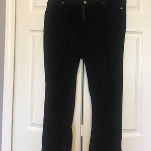 Black corduroy pants 5 pocket