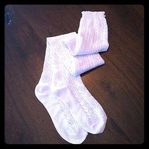 Merona Accessories - NWOT Merona Ivory Thigh High Pointelle Stockings